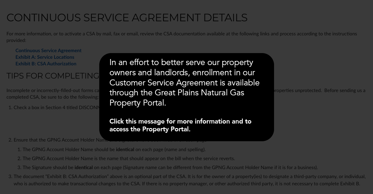 great plains natural gas property portal
